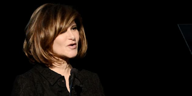 BEVERLY HILLS, CA - MARCH 21:  Honoree Amy Pascal, Co-chairman, Sony Pictures Entertainment speaks at 'An Evening' benefiting The LA Gay & Lesbian Center at the Beverly Wilshire Hotel on March 21, 2013 in Beverly Hills, California.  (Photo by Kevin Winter/Getty Images)