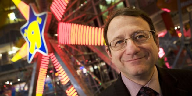 """Gerald Storch, Chairman and CEO of Toys """"R"""" Us, Inc., poses in the company's Times Square store on Tuesday, December 11, 2007 in New York.  (AP Photo/Mark Lennihan)"""
