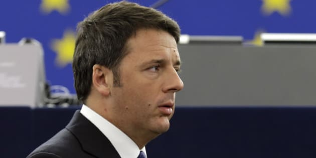 Italian Premier Matteo Renzi as they waits for Pope Francis to deliver his speech, at the European Council, in Strasbourg eastern France, Tuesday, Nov. 25, 2014. (AP Photo/Andrew Medichini)