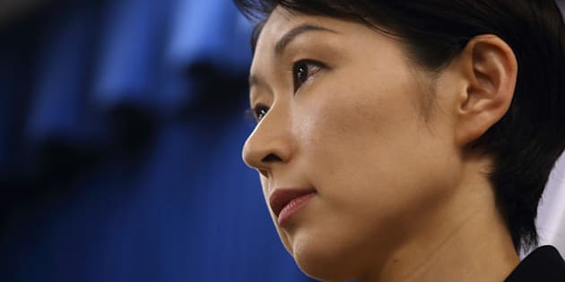 Yuko Obuchi, Japan's economy, trade and industry minister, attends a news conference in Tokyo, Japan, on Monday, Oct. 20, 2014. Obuchi resigned today over allegations that her support groups misused political funds, in a setback for Prime Minister Shinzo Abe, who has made promoting women a pillar of his economic policy. Photographer: Tomohiro Ohsumi/Bloomberg via Getty Images