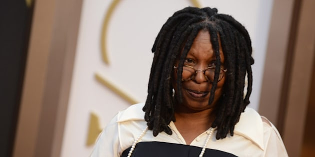 Whoopi Goldberg arrives at the Oscars on Sunday, March 2, 2014, at the Dolby Theatre in Los Angeles.  (Photo by Jordan Strauss/Invision/AP)