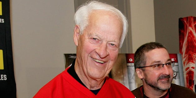 OTTAWA, ON - JANUARY 27:  Hockey Hall of Famer Gordie Howe signs autographs while attending the NHL Fan Fair as part of the 2012 NHL All-Star Weekend at Ottawa Convention Centre on January 27, 2012 in Ottawa, Canada.  (Photo by Dave Sandford/NHLI via Getty Images)