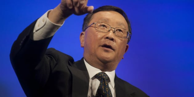 John Chen, chief executive officer of BlackBerry Ltd., speaks during the unveiling of the Classic smartphone at an event in New York, U.S., on Wednesday, Dec. 17, 2014. BlackBerry Ltd. is going back to its roots with a keyboard-equipped phone that looks like the original 'crackberrys' that made the Canadian smartphone maker a household name. Photographer: Michael Nagle/Bloomberg via Getty Images