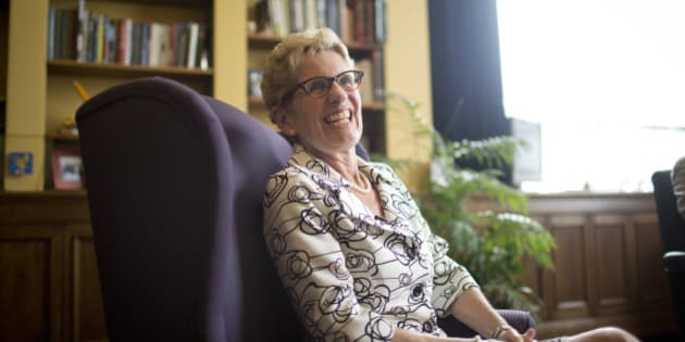TORONTO , ON - JUNE 17:  Premier Kathleen Wynne granted a private audience to The Star in her office after winning a majority government in the Ontario Provincial election. June 17, 2014