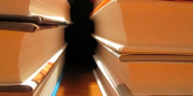Make a photo of an interesting stack of books or magazines. Consider how you handle repeating lines in your composition.