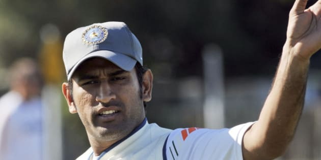 M.S. Dhoni, captain, attends the India cricket teams training at Nelson Park in Napier, New Zealand, Wednesday, March 25, 2009, as they prepare for the second test against New Zealand. (AP Photo/NZPA, Ross Setford) ** NEW ZEALAND OUT **
