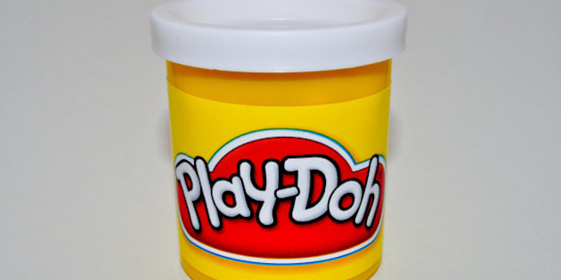 Some Play-Doh in my Homemade Studio.