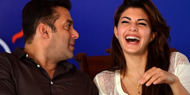 Indian Bollywood film actor Salman Khan (L) chats with Sri Lankan Bollywood film actress Jacqueline Fernandez at a free medical clinic organised to drum up support for President Rajapakse who is seeking re-election at a January 8, 2015 poll, in the capital Colombo on December 29, 2014.   President Rajapakses campaign suffered the worst setback so far when his main Muslim political ally ditched his coalition December 28, 2014 and pledged support to the main opposition candidate Maithripala Sirisena.   AFP PHOTO / ISHARA S. KODIKARA        (Photo credit should read Ishara S. KODIKARA/AFP/Getty Images)