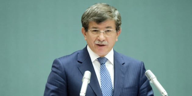 <i>Ahmet Davutoglu, Minister of Foreign Affairs of Turkey during UNHCR's 64th  Executive Committee Meeting.</i>  UNHCR/ J.M Ferré/ September 2013