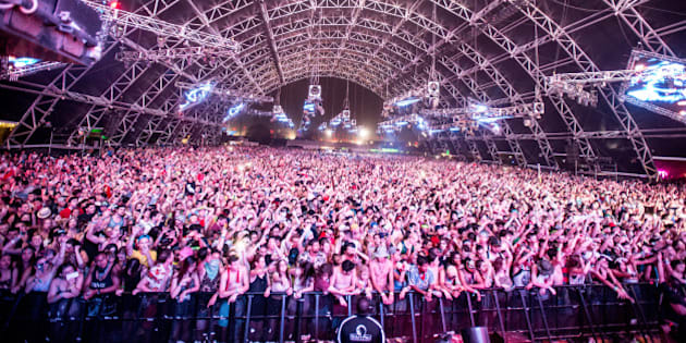 INDIO, CA - APRIL 20:  A view of the audience as Adventure Club performs at the Coachella valley music and arts festival at The Empire Polo Club on April 20, 2014 in Indio, California.  (Photo by Chelsea Lauren/WireImage)