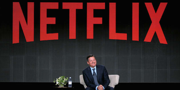 PASADENA, CA - JANUARY 07:  Netflix Chief Content Officer Ted Sarandos speaks during the Netflix TCA Press Tour at Langham Hotel on January 7, 2015 in Pasadena, California.  (Photo by Mark Davis/Getty Images for Netflix)