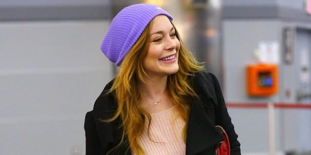 NEW YORK, NY - DECEMBER 30:  Lindsay Lohan is seen on December 30, 2014 in New York City.  (Photo by XPX/Star Max/GC Images)
