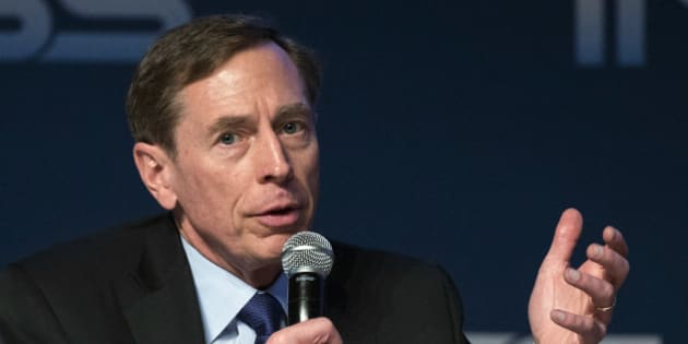 Former CIA director David Petraeus gives a speech at the Institute for National Security Studies (INSS) during the 7th Annual International Conference at the Tel Aviv Museum of Art on January 28, 2014, in the Mediterranean coastal city of Tel-Aviv. The event runs until January 29. AFP PHOTO / JACK GUEZ        (Photo credit should read JACK GUEZ/AFP/Getty Images)
