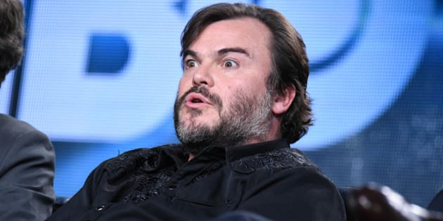 Jack Black speaks on stage at HBO 2015 Winter TCA on Thursday, Jan. 8, 2015, in Pasadena, Calif. (Photo by Richard Shotwell/Invision/AP)