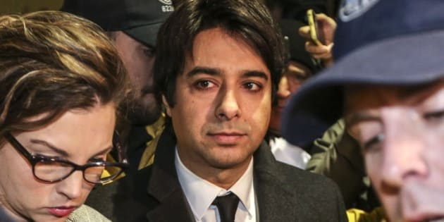 TORONTO, ON - JANUARY 8:   Jian Ghomeshi leaves College Park Court after his appearance January 8, 2015.  homeshi is now facing three new charges of sexual assault related to three more women in addition to four previously laid charges of sexual assault and one charge of choking.        (David Cooper/Toronto Star via Getty Images)