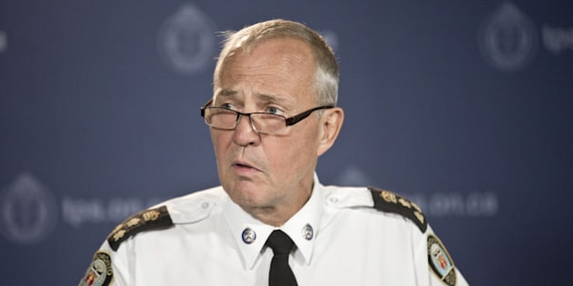 TORONTO, ON - AUGUST 14: Toronto Police Chief Bill Blair held a press conference at police HQ Thursday afternoon where he accepted Doug Ford's apology over comments that the police Chief deemed to be lies. August 14, 2014        (Lucas Oleniuk/Toronto Star via Getty Images)