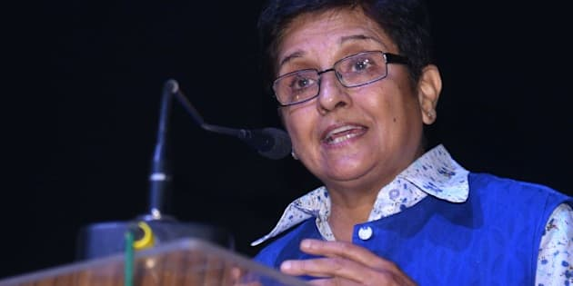 Former Indian police officer and social activist, Kiran Bedi addresses students after the launch of her book 'Kiran Bedi, Making of the Top Cop' at a college in Amritsar on November 19, 2014. Bedi has launched her story as told by Reeta Peshawaria Menon and edited by Amrita Bahl.  AFP PHOTO/NARINDER NANU.        (Photo credit should read NARINDER NANU/AFP/Getty Images)