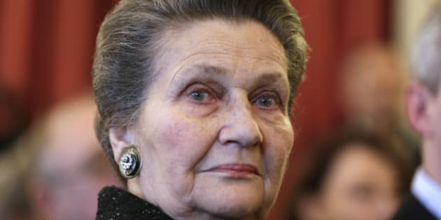 French Former Health Minister Simone Veil attends on April 6, 2013 the awarding of the Political Book Prize at the National Assemby in Paris.         AFP PHOTO / KENZO TRIBOUILLARD        (Photo credit should read KENZO TRIBOUILLARD/AFP/Getty Images)