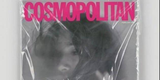 """Cosmopolitan, la cover """"scandalosa"""" con una ragazza soffocata. Racconta la storia di Shafilea Ahmed, soffocata dai genitori nel 2003 (TWEET)"""