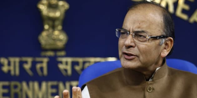 NEW DELHI, INDIA - DECEMBER 7: Union Finance Minister Arun Jaitley during a press conference after the first round of meetings with Chief Ministers on plan panel revamp at Shastri Bhawan, on December 7, 2014 in New Delhi, India. Jaitley said most chief ministers have favoured an alternative structure that would replace the Planning Commission, in which states would have more participation. (Photo by Arvind Yadav/Hindustan Times via Getty Images)