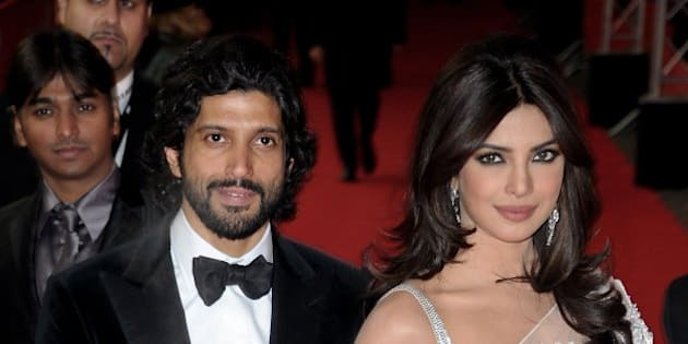 BERLIN, GERMANY - FEBRUARY 11:  Farhan Akhtar and Priyanka Chopra attend the 'Don - The King Is Back' Premiere during day three of the 62nd Berlin International Film Festival at the Friedrichstadtpalast on February 11, 2012 in Berlin, Germany.  (Photo by Dominique Charriau/WireImage)
