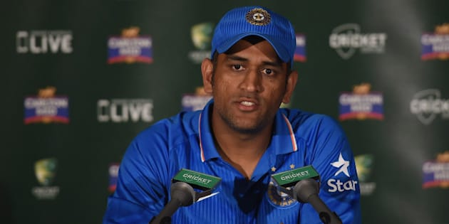 BRISBANE, AUSTRALIA - JANUARY 20:  Mahendra Singh Dhoni of India speaks during a press conference after the One Day International match between England and India at The Gabba on January 20, 2015 in Brisbane, Australia.  (Photo by Matt Roberts - CA/Cricket Australia/Getty Images)
