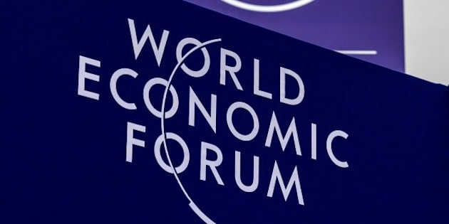 Logos of the World Economic Forum (WEF) are seen on January 20, 2015 on the eve of the opening of the WEF annual meeting. World leaders including France's Francois Hollande, Germany's Angela Merkel and China's Li Keqiang will gather at the annual Davos forum, seeking to chart a path away from fundamentalism towards solidarity. AFP PHOTO / FABRICE COFFRINI        (Photo credit should read FABRICE COFFRINI/AFP/Getty Images)
