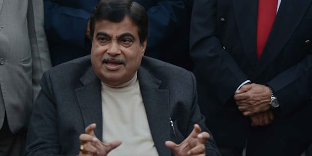 NEW DELHI, INDIA  DECEMBER 30: Minister of Road Transport and Highways Nitin Gadkari during a Press Conference in New Delhi.(Photo by K.Asif/India Today Group/Getty Images)