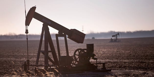 RIDGWAY, IL - JANUARY 21:  An idled pump jack, once used to extract crude oil from the ground, sits above a well on the edge of a farmers field on January 21, 2015 near Ridgway, Illinois. With oil prices near a 5 1/2-year low, oil companies are beginning to slow drilling operations in the United States.  (Photo by Scott Olson/Getty Images)