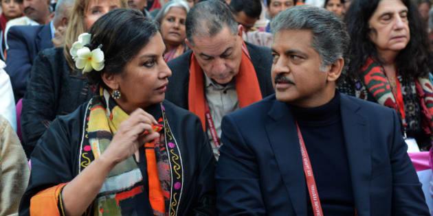 JAIPUR, INDIAJanuary 21: Shabana Azmi during Jaipur Literature Festival 2015 in Jaipur.(Photo by Purushottam Diwakar/India Today Group/Getty Images)