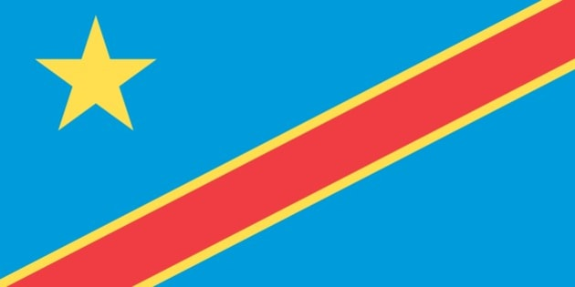 Flag Of The Democratic Republic Of The Congo (Formerly Zaire). (Photo By Encyclopaedia Britannica/UIG Via Getty Images)