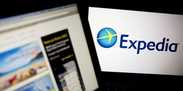 The Expedia Inc. homepage and logo are displayed on laptop computers arranged for a photograph in Washington, D.C., U.S., on Tuesday, Oct. 29, 2013. Expedia Inc. is expected to release earnings figures on Oct. 30. Photographer: Andrew Harrer/Bloomberg via Getty Images