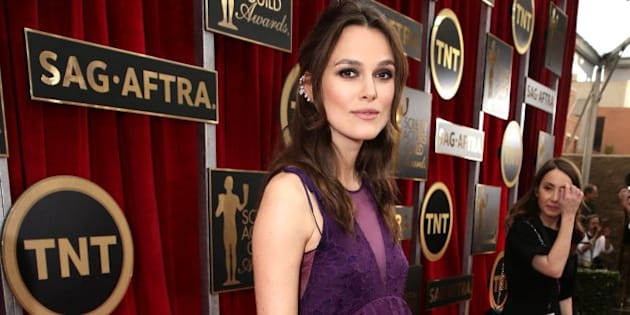 Keira Knightley seen at the Red Carpet Arrivals For The 21st Annual SAG Awards held at the Shrine Auditorium on Sunday, Jan. 25, 2015, in Los Angeles. (Photo by Eric Charbonneau/Invision for People Magazine]/AP Images)
