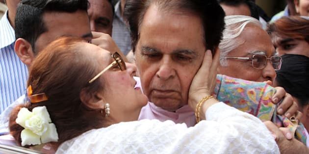 MUMBAI, INDIA  DECEMBER 10: Actor Dilip Kumar after getting discharge from Lilawati Hospital in Mumbai.(Photo by Milind Shelte/India Today Group/Getty Images)