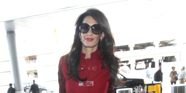 LOS ANGELES, CA - JANUARY 25:  Amal Clooney is seen on January 25, 2015 in Los Angeles, California.  (Photo by SMXRF/Star Max/GC Images)