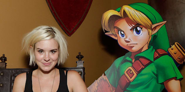 SAN DIEGO, CA - JULY 21:  Brea Grant plays The Legend of Zelda 3D at Nintendo's Arts & Cinema Centre while at Comic Con on July 21, 2011 in San Diego, California.  (Photo by Todd Williamson/WireImage)