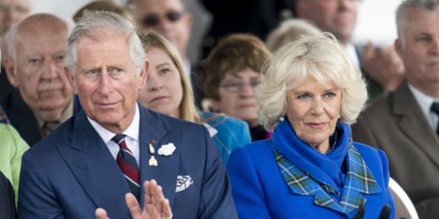 PICTOU, NOVA SCOTIA - MAY 19:  Prince Charles, Prince of Wales and Camilla, Duchess of Cornwall visit Hector Quay on May 19, 2014 in Pictou, Canada.  (Photo by Mark Cuthbert/UK Press via Getty Images)