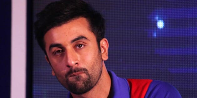 MUMBAI, INDIA  AUGUST 30: Ranbir Kapoor at the launch of Mumbai franchise of the Indian Super League, called Mumbai City Football Club (Mumbai City FC).(Photo by Milind Shelte/India Today Group/Getty Images)