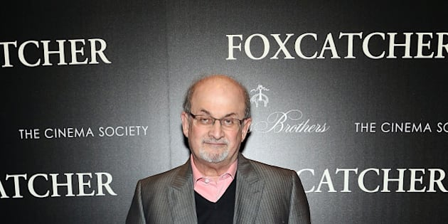 NEW YORK, NY - NOVEMBER 11:  Salman Rushdie attends Sony Pictures Classics screening of 'Foxcatcher' hosted by Details, Brooks Brothers & Patron with The Cinema Society at Museum of Modern Art on November 11, 2014 in New York City.  (Photo by Monica Schipper/FilmMagic)