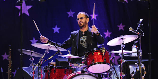 Ringo Starr and his All Starr Band performs at the Broward Center for the Performing Arts on October 21, 2014 in Ft Lauderdale, Florida.(Photo by Jeff Daly/Invision/AP)