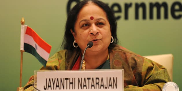 Indian Minister of Environment and Forests Jayanthi Natarajan addresses a press conference at the Tenth BASIC Ministerial Meeting in New Delhi on February 14 ,2011. Environment ministers of India, China and other emerging nations said they strongly opposed the EU's 'unilateral' decision to impose a carbon tax on air travel. The European Union (EU) imposed the tax with effect from January 1, but no airline will face a bill until next year after this year's carbon emissionsa have been tallied. AFP PHOTO/SAJJAD HUSSAIN (Photo credit should read SAJJAD HUSSAIN/AFP/Getty Images)