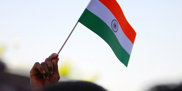 Happy Independence Day for India. Flag hoisting ceremony at the Indian Embassy in Kuwait