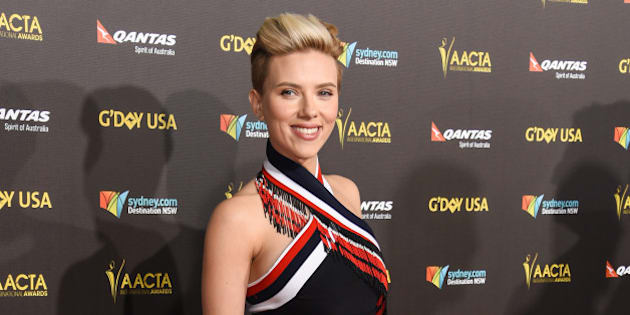 Scarlett Johansson attends the 2015 G'DAY USA GALA at the  Hollywood Palladium on Saturday, Jan. 31, 2015, in Los Angeles. (Photo by Rob Latour/Invision/AP)