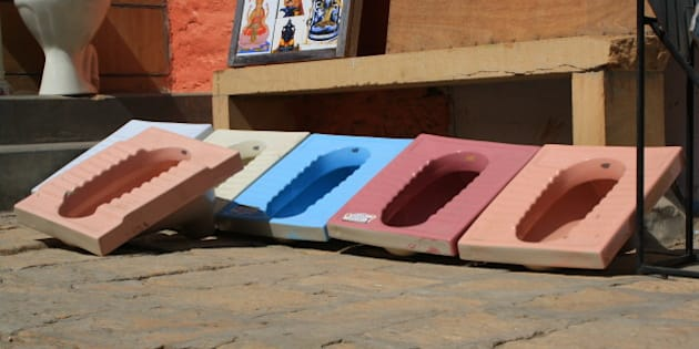 Toilets for sale in Jaisalmer.
