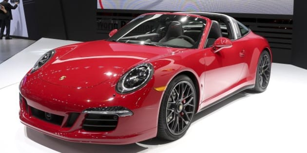DETROIT, MILIF - JANUARY 12:  Detroit, Michigan - January 12  -  World premiere of the Porsche 911 Targa GTS