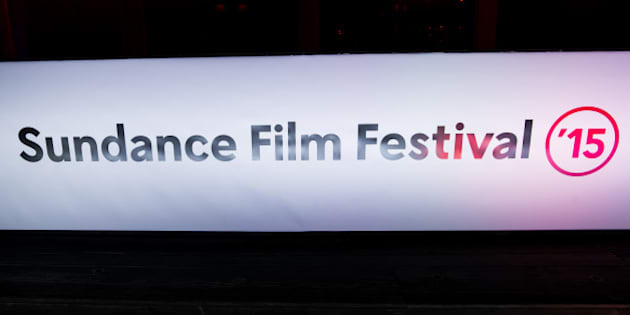 A Sundance Film Festival sign is seen on Main Street on Wednesday, Jan. 28, 2015, in Park City, Utah. (Photo by Scott Roth/Invision/AP)