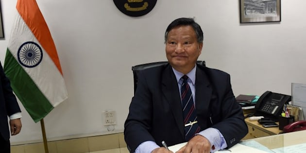 Harishankar Brahma poses for the media as he takes charge as India's Chief Election Commissioner (CEC) in New Delhi on January 16, 2015.  Former bureaucrat Harishankar Brahma took over as the Chief Election Commissioner after present CEC Veeravalli Sundaram Sampath retired on 15 January, 2015.  A 1975 IAS officer of Andhra Pradesh cadre, Brahma (60), who hails from Assam, is a former Union power secretary.  AFP PHOTO / PRAKASH SINGH        (Photo credit should read PRAKASH SINGH/AFP/Getty Images)