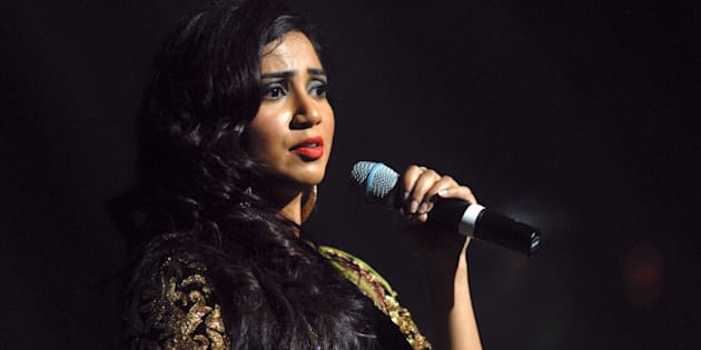 DETROIT, MI - OCTOBER 04: Shreya Ghoshal performs at Music Hall Center on October 4, 2013 in Detroit, Michigan. (Photo by Paul Warner/Getty Images)