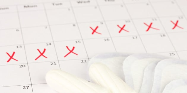 menstruation calendar with...