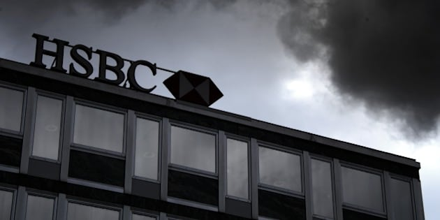 A sign of HSBC private bank (Suisse) is seen on June 14, 2013 in the center of Geneva.  AFP PHOTO / FABRICE COFFRINI        (Photo credit should read FABRICE COFFRINI/AFP/Getty Images)